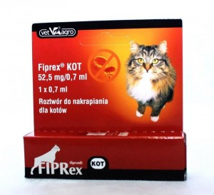 Fiprex dla kota spot on  1 x 0,7 ml